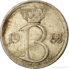Monedas antiguas de Europa: MONEDA, BÉLGICA, 25 CENTIMES, 1968, BRUSSELS, BC+, COBRE - NÍQUEL, KM:154.1. Lote 195515277