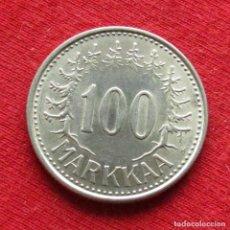 Monedas antiguas de Europa: FINLANDIA 100 MARKKAA 1957. Lote 195518761
