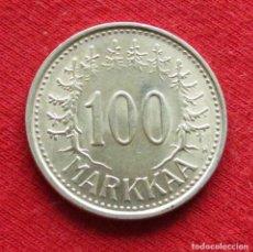 Monedas antiguas de Europa: FINLANDIA 100 MARKKAA 1956. Lote 195518778