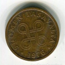 Monedas antiguas de Europa: FINLANDIA 5 PENNIA AÑO 1976 - SE ENVIA LA MONEDA DE LAS IMAGENES-. Lote 195524923