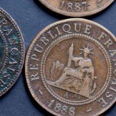 Monedas antiguas de Europa: FRENCH INDO CHINA LOTE 4 MONEDAS MODULO GRANDE. Lote 195534007