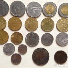 Monedas antiguas de Europa: LOTE DE 20 MONEDAS DIFERENTES DE ITALIA. Lote 195534222