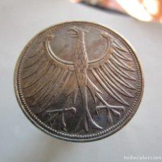 Monedas antiguas de Europa: ALEMANIA. 5 MARCOS DE PLATA MUY ANTIGUOS . AÑO 1951 - D . BELLA PATINA ANTIGUA. Lote 195537787