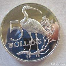 Monedas antiguas de Europa: TRINIDAD Y TOBAGO . 5 DOLARES DE PLATA . TAMAÑO GRANDE . TOTALMENTE NUEVA . FDC. Lote 195546902