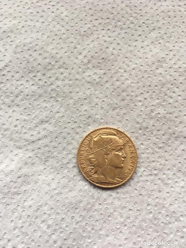 20 FRANCOS REPUBLICA FRANCESA AÑO 1909 S/C ORO. (Numismática - Extranjeras - Europa)