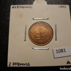 Monedas antiguas de Europa: ALEMANIA 2 PFENNIG 1991 A. Lote 195811561
