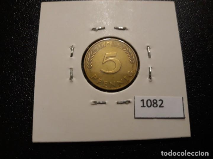 Monedas antiguas de Europa: Alemania 5 pfennig 1950 D - Foto 2 - 195811752