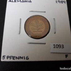 Monedas antiguas de Europa: ALEMANIA 5 PFENNIG 1989 F. Lote 195865420