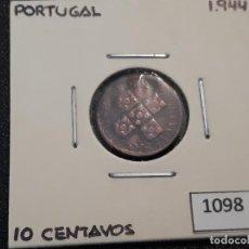 Monedas antiguas de Europa: PORTUGAL 10 CENTAVOS 1944. Lote 195868640