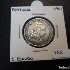 Monedas antiguas de Europa: PORTUGAL 1 ESCUDO 1961. Lote 195886575