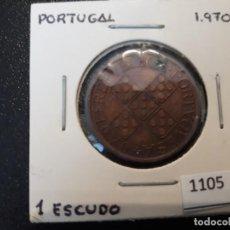 Monedas antiguas de Europa: PORTUGAL 1 ESCUDO 1970. Lote 195894187