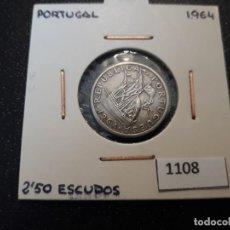Monedas antiguas de Europa: PORTUGAL 2,5 ESCUDOS 1964. Lote 195894567
