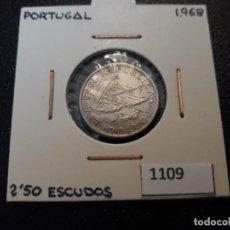 Monedas antiguas de Europa: PORTUGAL 2,5 ESCUDOS 1968. Lote 195894741