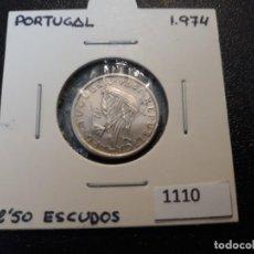 Monedas antiguas de Europa: PORTUGAL 2,5 ESCUDOS 1974. Lote 195894877