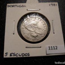 Monedas antiguas de Europa: PORTUGAL 5 ESCUDOS 1981. Lote 195940245