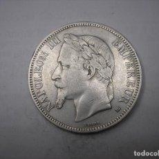 Monedas antiguas de Europa: FRANCIA, 5 FRANCOS DE PLATA DE 1868 BB. EMPERADOR , NAPOLEÓN III. Lote 196160687