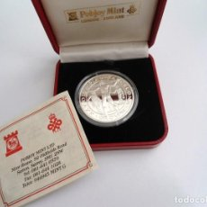 Monedas antiguas de Europa: GIBRALTAR 1991 - 1 CROWN KM# 69A - PLATA PROOF - OLYMPICS LANZAMIENTO JAVALINA - SIN CIRCULAR. Lote 197107968