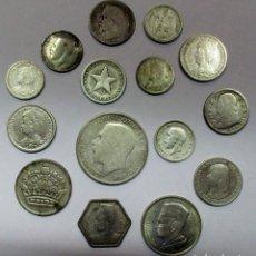 Monedas antiguas de Europa: CONJUNTO DE 15 MONEDAS EXTRANJERAS ANTIGUAS EN PLATA. EUROPA,, AFRICA, AMERICA. LOTE 2396. Lote 197337861