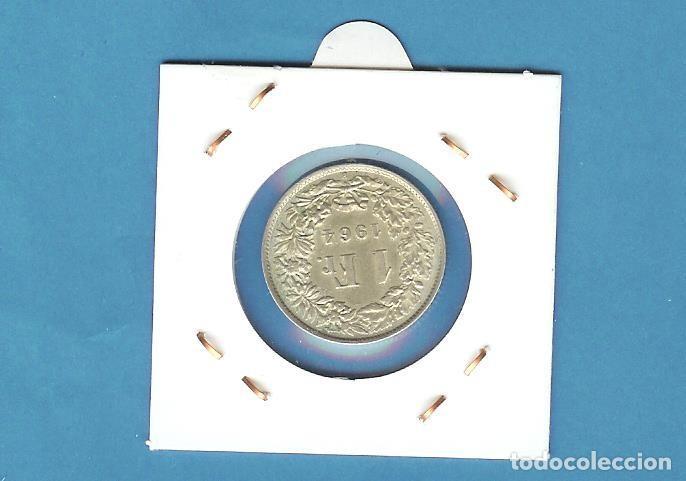 Monedas antiguas de Europa: SUIZA: 1 FRANC 1964. 5 GRAMOS DE LEY 0,835 - Foto 2 - 197857245