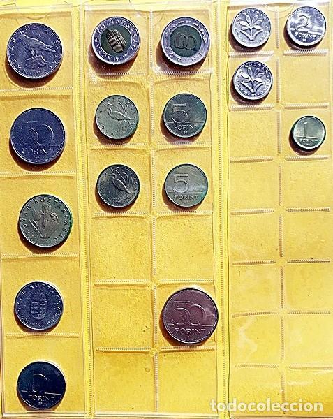 Monedas antiguas de Europa: COLECCIÓN DE 16 MONEDAS DE LA REPÚBLICA DE HUNGRÍA. AÑOS 90 - Foto 2 - 197882721