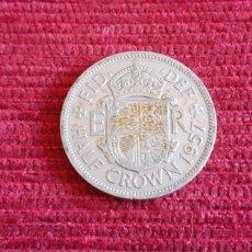 Monedas antiguas de Europa: INGLATERRA -ELIZABETH II ,1957- HALF CROWN. Lote 198590048