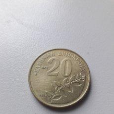 Monete antiche di Europa: 20 DRACMA 1998 GRECIA. Lote 199033628