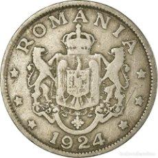 Monedas antiguas de Europa: MONEDA, RUMANÍA, FERDINAND I, 2 LEI, 1924, BC+, COBRE - NÍQUEL, KM:47. Lote 199082777