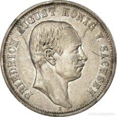 Monedas antiguas de Europa: MONEDA, ESTADOS ALEMANES, SAXONY-ALBERTINE, FRIEDRICH AUGUST III, 3 MARK, 1909. Lote 199083025