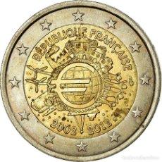 Monedas antiguas de Europa: FRANCIA, 2 EURO, 10 JAHRE EURO, 2012, MBC, BIMETÁLICO, KM:1846. Lote 199083372