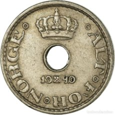 Monedas antiguas de Europa: MONEDA, NORUEGA, HAAKON VII, 10 ÖRE, 1940, MBC, COBRE - NÍQUEL, KM:383. Lote 199083406