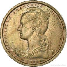 Monedas antiguas de Europa: MONEDA, ÁFRICA ORIENTAL FRANCESA, 2 FRANCS, 1948, PARIS, ESSAI, EBC, COBRE -. Lote 199083533