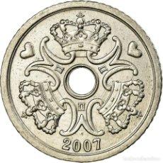 Monedas antiguas de Europa: MONEDA, DINAMARCA, MARGRETHE II, KRONE, 2007, BRONDBY, EBC, COBRE - NÍQUEL. Lote 199083647