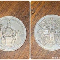 Monedas antiguas de Europa: MONEDA. REINO UNIDO. ELIZABETH II. 5 SHILLINGS. 5 CHELINES. 1953. VER FOTOS. Lote 199451417