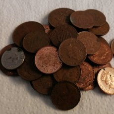 Monedas antiguas de Europa: LOTE DE 31 MONEDAS DE GRAN BRETAÑA SUCIAS.. Lote 199919631