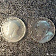 Monedas antiguas de Europa: INGLATERRA/GRAN BRETAÑA/REINO UNIDO - MEDIA CORONA 1911 Y 1912, PLATA 925. Lote 200176942
