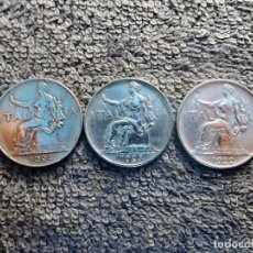 Monedas antiguas de Europa: ITALIA, 1 LIRA 1922, 1923 Y 1924 - BUONO DA LIRE. Lote 200250586