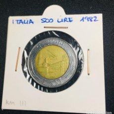 Monedas antiguas de Europa: ITALIA 500 LIRE 1982. Lote 200364170
