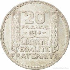 Monedas antiguas de Europa: 20 GRAMOS PLATA-FRANCIA- 20 FRANCOS TIPO *TURIN* AÑO 1938 (3ª REPUBLICA) KM#879.. Lote 217486803