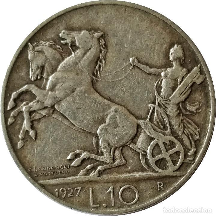 ITALIA. 10 LIRAS DE 1927, R. * FERT * (REY VITTORIO EMANUELE III). (115) (Numismática - Extranjeras - Europa)
