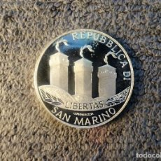 Monedas antiguas de Europa: SAN MARINO, 5 EUROS 2002 BIENVENIDOS AL EUROS - CONMEMORATIVA PLATA. Lote 201190147