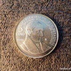 Monedas antiguas de Europa: SAN MARINO, 5 EUROS 2004 BARTOLOMEO BORGHESI - CONMEMORATIVA PLATA. Lote 201190675