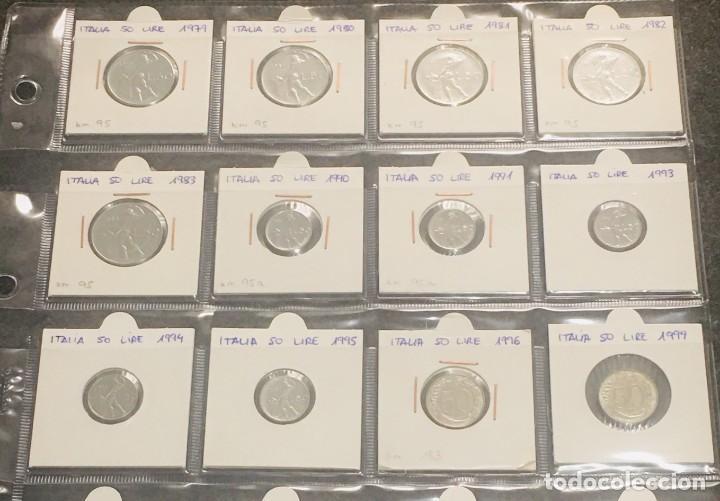 ITALIA: LOTE DE 12 MONEDAS DE 50 LIRE CON DIFERENTES FECHAS (Numismática - Extranjeras - Europa)