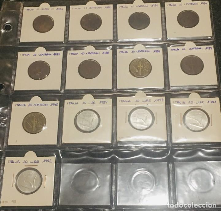 ITALIA: LOTE DE 13 MONEDAS ANTIGUAS CON DIFERENTES FECHAS (Numismática - Extranjeras - Europa)