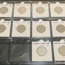 Monedas antiguas de Europa: ALEMANIA LOTE DE 10 MONEDAS DE 1 MARK DE DIFERENTES AÑOS. Lote 201233067