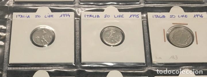 Monedas antiguas de Europa: ITALIA: LOTE DE 12 MONEDAS DE 50 LIRE CON DIFERENTES FECHAS - Foto 3 - 201216362