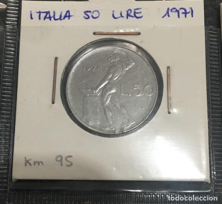 Monedas antiguas de Europa: ITALIA: LOTE DE 21 MONEDAS DE 50 LIRE CON DIFERENTES FECHAS - Foto 4 - 201217566