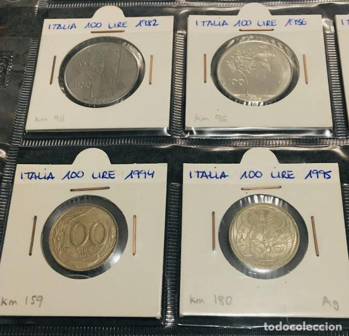 Monedas antiguas de Europa: ITALIA: LOTE DE 15 MONEDAS DE 100 LIRE CON DIFERENTES FECHAS - Foto 3 - 201219640