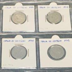 Monedas antiguas de Europa: ITALIA LOTE DE 8 MONEDAS DE 20 CENTESIMI DE DIFERENTES AÑOS. Lote 201231425