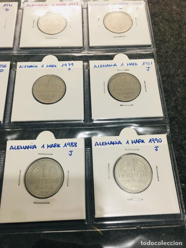 Monedas antiguas de Europa: ALEMANIA LOTE DE 10 MONEDAS DE 1 MARK DE DIFERENTES AÑOS - Foto 3 - 201233067