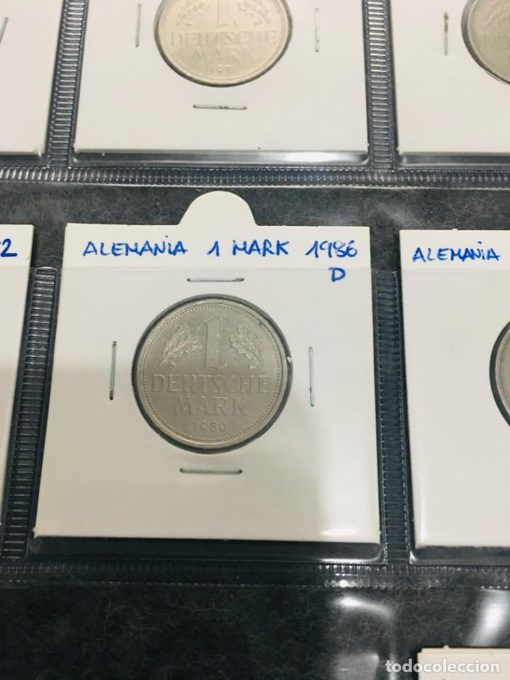 Monedas antiguas de Europa: ALEMANIA LOTE DE 10 MONEDAS DE 1 MARK DE DIFERENTES AÑOS - Foto 4 - 201233067
